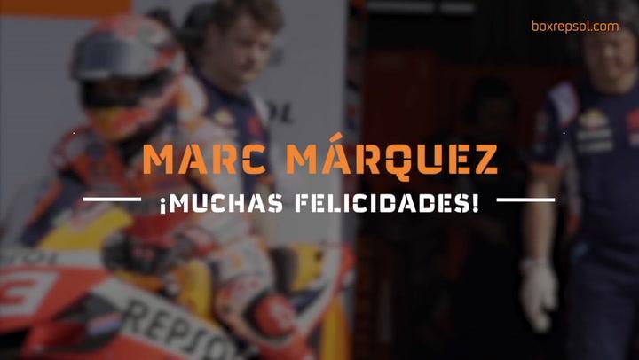 Repsol Honda felicita el cumpleaños a Marc Márquez