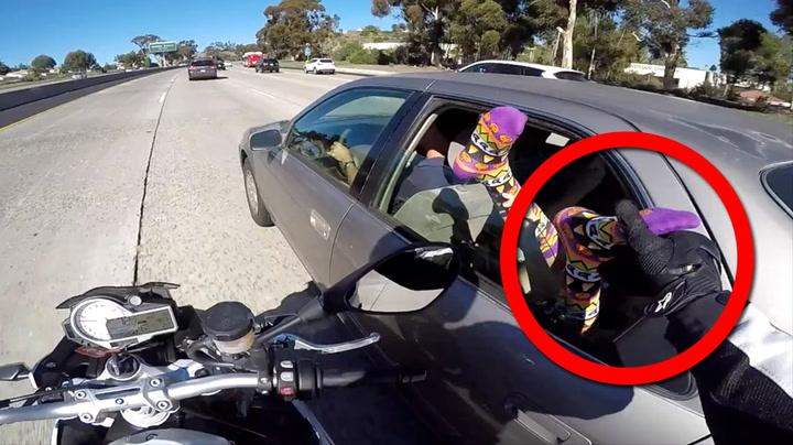 Motorsyklist skremte vettet av barn på motorveien