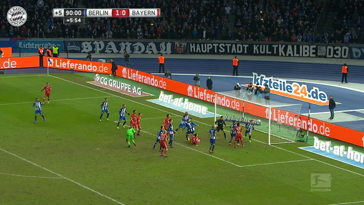 All Robert Lewandowski's goals vs Hertha Berlin