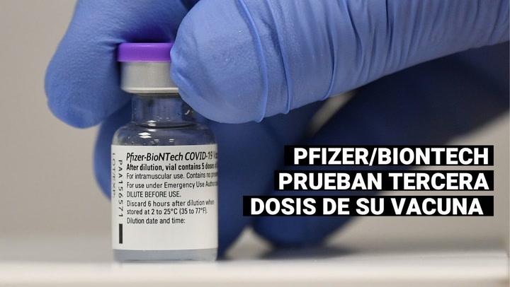 Pfizer prueba tercera dosis de su vacuna para comprender mejor respuesta inmune contra variantes