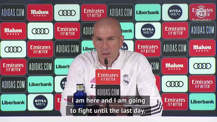 Zidane unfazed by continued questions on Real Madrid future