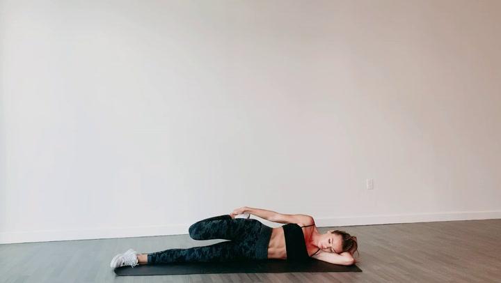 Lying Quad Stretch