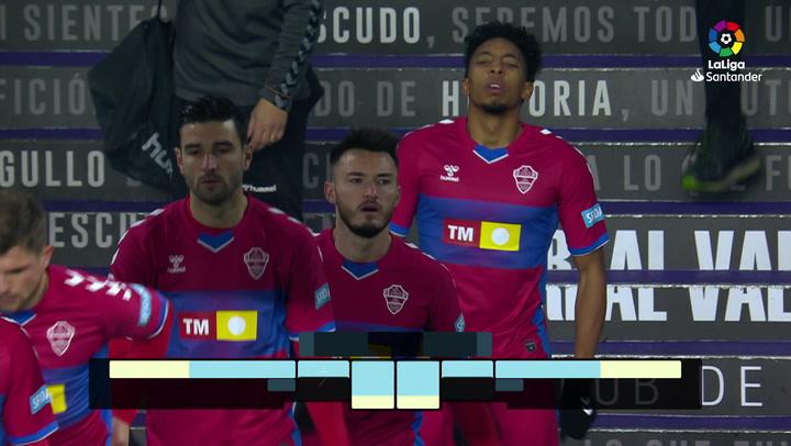 LaLiga Santander (Jornada 19): Valladolid 2-2 Elche
