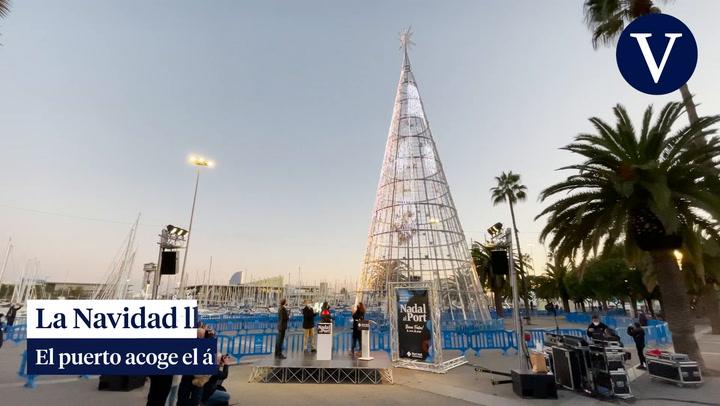 El Port de Barcelona enciende las luces de Navidad