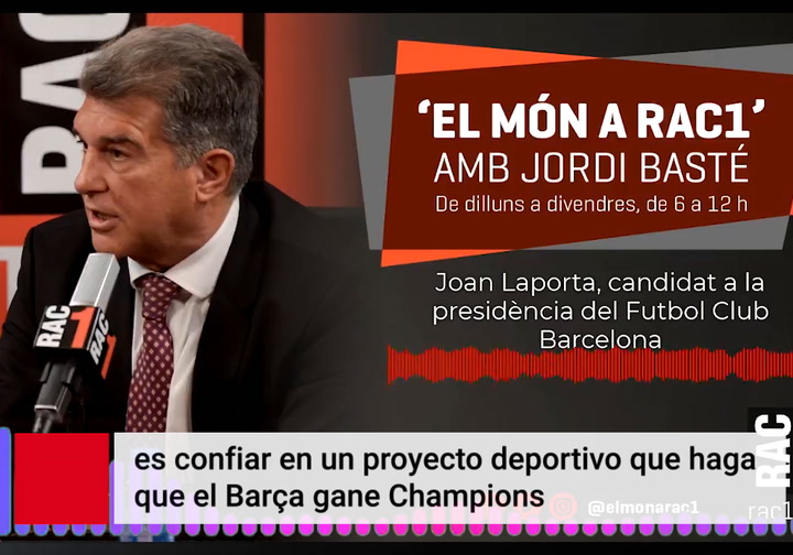 "Laporta: ""Ayer le mandé un mensaje a Messi; queremos que se quede"""