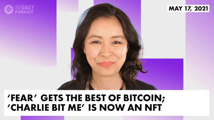 'Fear' Gets the Best of Bitcoin; Youtube Hit 'Charlie Bit Me' is Now an NFT; KAWS Launches New Project That Accepts Cryptocurrencies