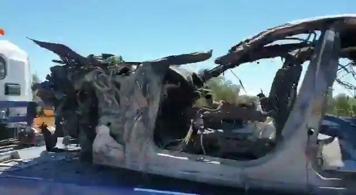 Así quedó el coche de José Antonio Reyes después del accidente