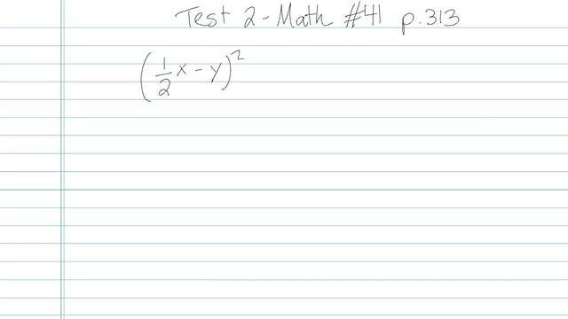 Test 2 - Math - Question 41