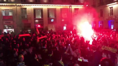 Vigilia de hinchas de Nantes por el futbolista santafesino Emiliano Sala