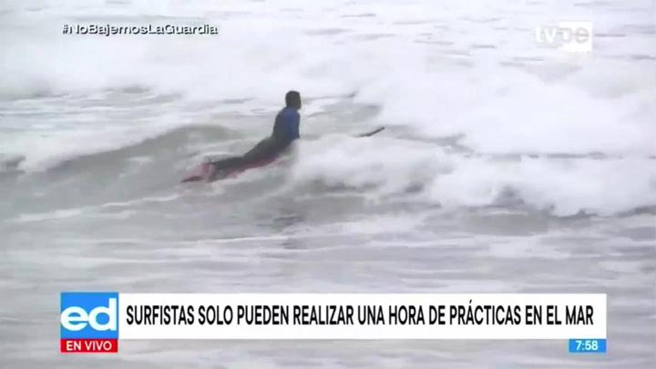 Costa Verde: deportistas aprovechan el sol para correr olas