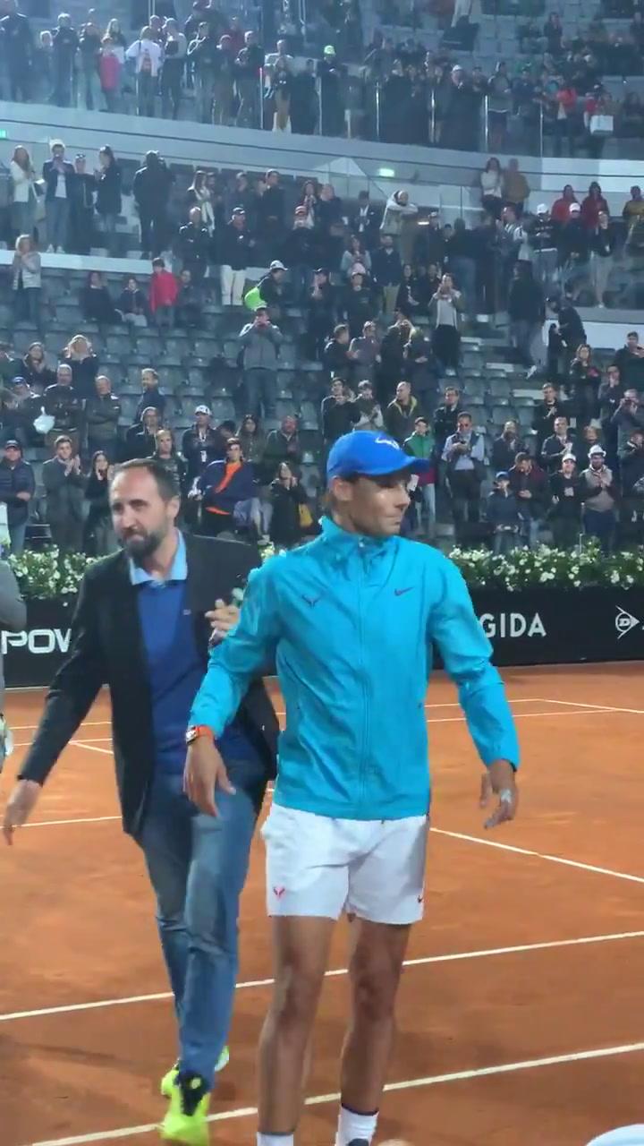 Rafa Nadal celebra su victoria ante Basilashvili