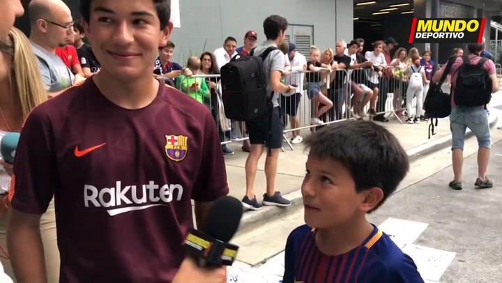 La afición lamenta no poder ver a Messi en Miami