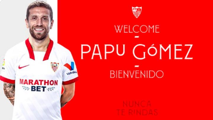 Papu Gómez es nuevo jugador del Sevilla FC