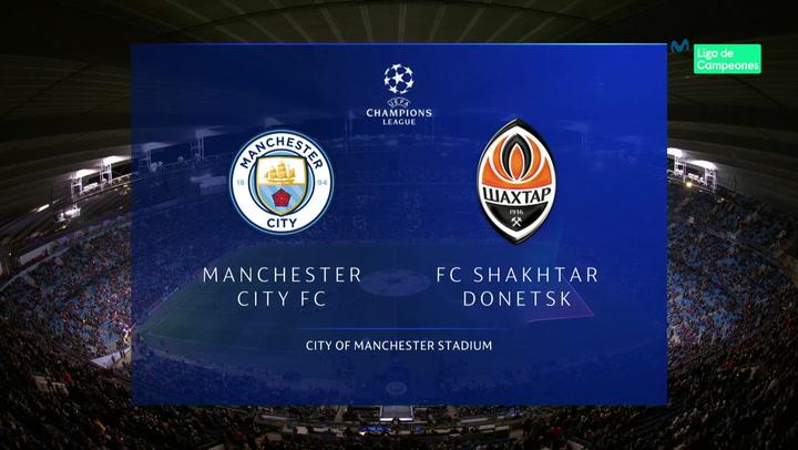 Champions League: Resumen y Goles del Manchester City - Shakhtar