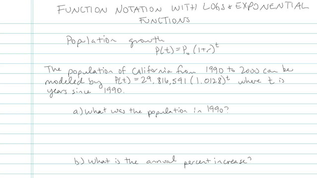 Function Notation with Logs and Exponentials  - Problem 3
