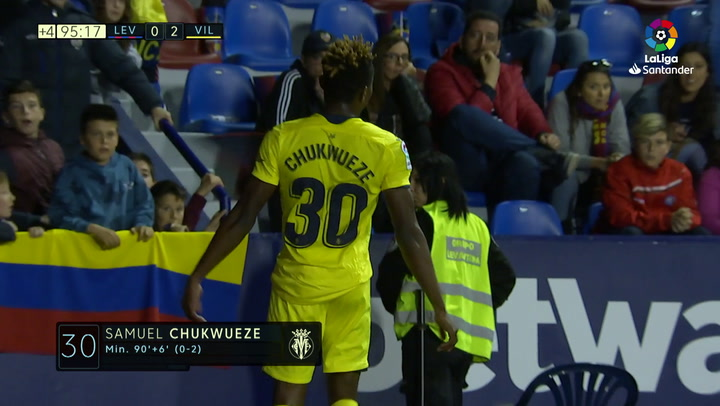 LaLiga: Levante-Villarreal. Gol de Chukwueze (0-2)