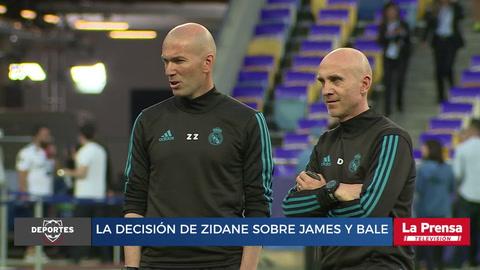La decisión de Zidane sobre James y Bale