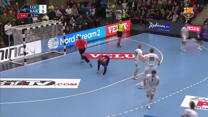 Elverum Handball-Barça. Resumen del partido de Champions