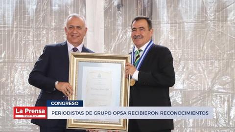 Periodistas de Grupo OPSA recibieron reconocimientos