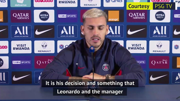 PSG's Paredes admits 'it's natural to want Messi in your team'