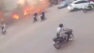 Una explosión en una gasolinera deja 13 heridos en Camboya
