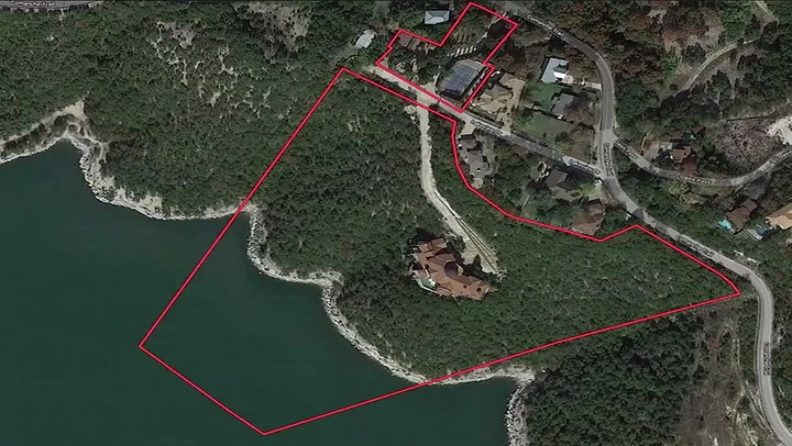 Mansion built into side of Texas mountain lists for $13m