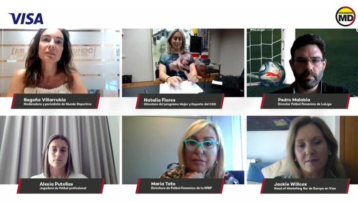 Debate sobre 'La profesionalización del fútbol femenino' en la conferencia virtual que organizan Visa y Mundo Deportivo.mp4
