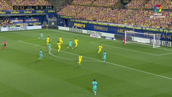 Gol de Pau Torres (p.p.) (0-1) en el Villarreal 1-4 Barcelona