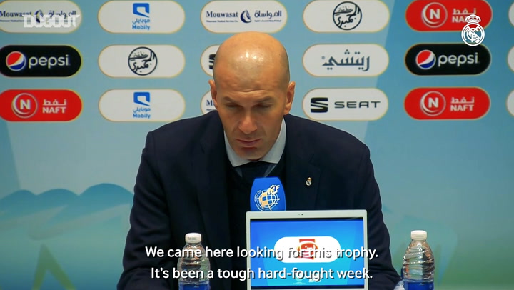 Zidane: 'We believed we could win it right to the end'