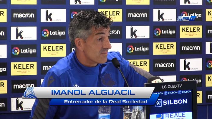 Rueda de prensa de Imanol previa al duelo contra el Valencia