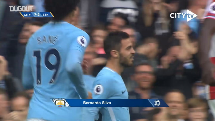 Bernardo Silva's first goal with Manchester City