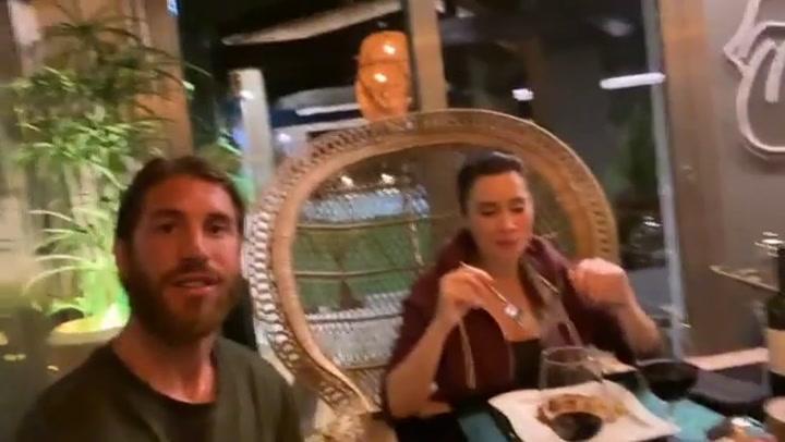 Ramos y Pilar Rubio se montan una impresionante cena romántica en casa