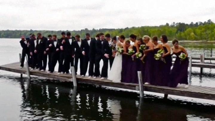 Det skulle være det perfekte brudebildet - så går det galt