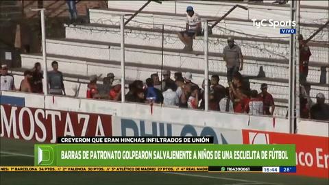 Salvaje agresión de la barra de Patronato a chicos de una escuelita de fútbol