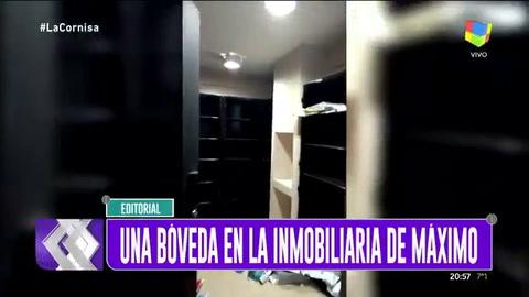 El video que muestra la bóveda en la inmobiliaria de Máximo Kirchner