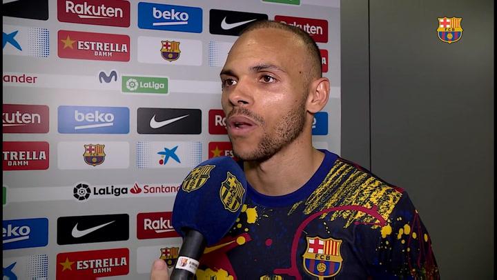 Braithwaite habló tras su debut ante el Leganés