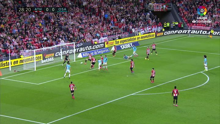 Gol de Oier (0-1) en el Athletic 0-1 Osasuna