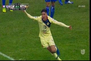 América está derrotando a Cruz Azul con golazo de Edson Álvarez