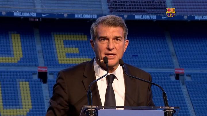 El discurso íntegro de Joan Laporta ya como nuevo presidente del FC Barcelona