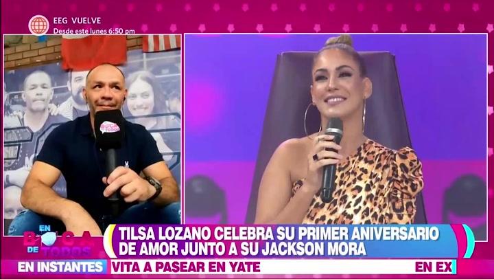 Jackson Mora responde cuándo le pedirá matrimonio a Tilsa Lozano