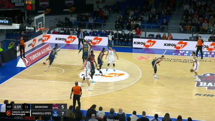 El resumen del partido de Euroleague Kirolbet Baskonia Vitoria-Gasteiz - Anadolu Efes Istanbul