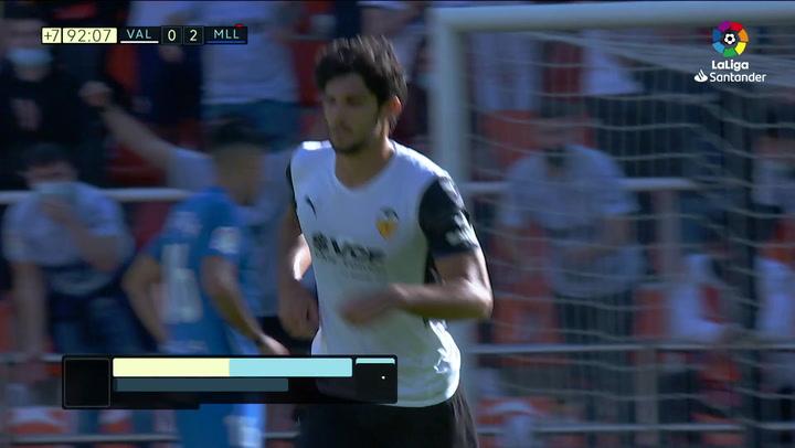 Gol de Guedes (1-2) en el Valencia 2-2 Mallorca