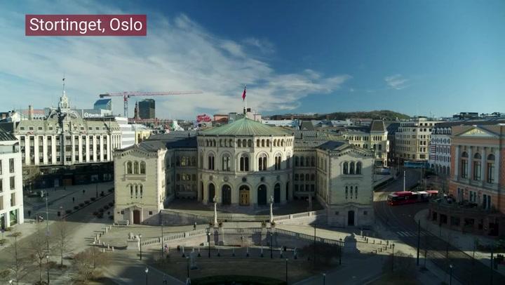 Stortinget, panorama, Oslo, Løvebakken