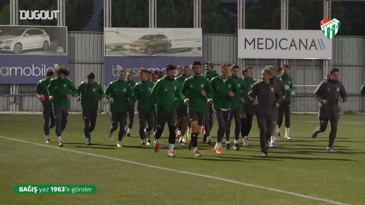 Bursaspor'da Eskişehirspor maçı hazırlıkları başladı