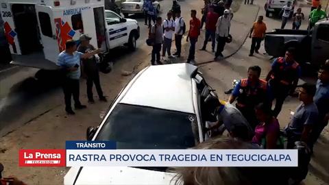 Rastra provoca tragedia en Tegucigalpa