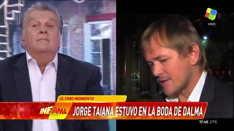 Ventura confirmó que Jorge Taiana estuvo en la boda de Dalma