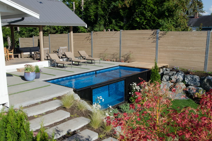 Pool modern  Want a modern pool for your modern home? You may want to check out ...