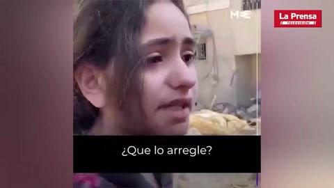 Niña palestina conmueve al mundo tras bombardeos en Gaza