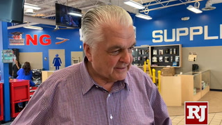 Steve Sisolak at Masterpiece Barber College