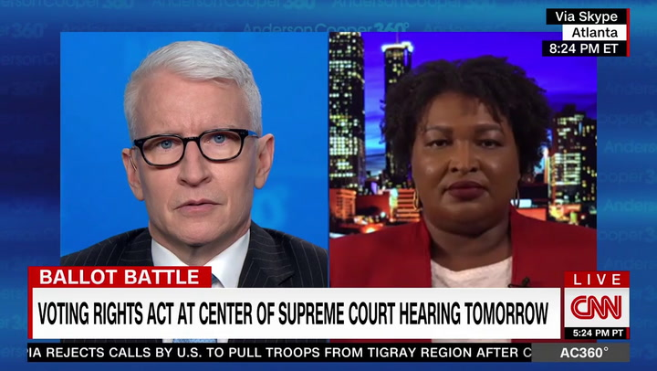 Stacey Abrams: 'We Are At War' with GOP Attempting to 'Deny Access to the Ballot'